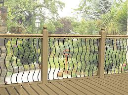 Garden Wall Railings by Metal Decking Railing Panels Fencing Infill Rails Steel