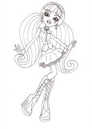 monster high draculaura coloring pages getcoloringpages com