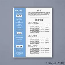 attractive resume templates word resume template with blue sidebar modern resume template