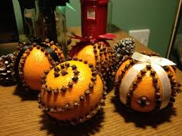 smell the decorations diy orange and clove pomanders