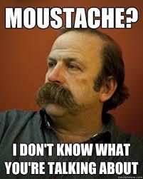 Meme Moustache - moustache i don t know what you re talking about unknowing