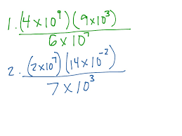 showme scientific notation multiply and divide word problems