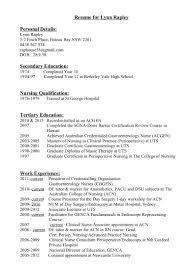 Perioperative Nurse Resume Updated Resume 2016