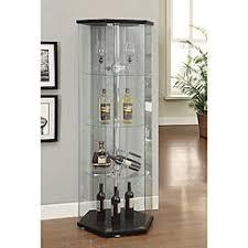 Curio Cabinets Shelves Coaster Corner Curio Cabinet Glass Shelves In Cherry