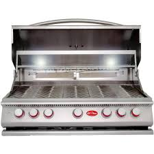 cal flame 5 burner built in stainless steel propane gas grill with