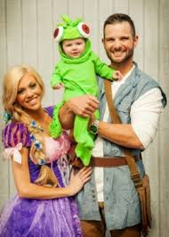 Rapunzel Halloween Costume Adults Creative Diy Costume Ideas Mom Dad Baby Themed Family