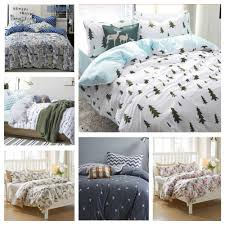 cool teenage bedding with machine washable blue and white pine