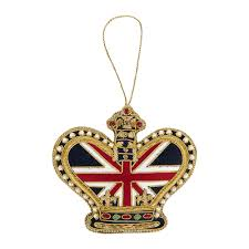 buy tinker tailor union jack crown christmas tree decoration amara
