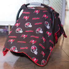 bay bay baby ta bay buccaneers baby gear carseat canopy cover nfl licensed