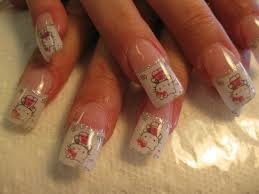 sparkling hello kitty nail art designs by top nails clarksville