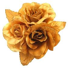Golden Roses For Golden Rose Satin Flower Dress Brooch U0026 Hair Bun Brooch