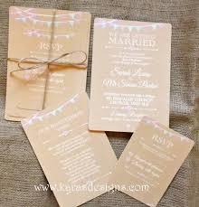 flat wedding invites