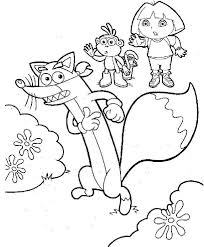 dora boots swiper coloring dora coloring pages