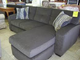 l shaped light gray microfiber sofa with couch and flower pattern