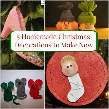 5 homemade christmas decorations to make now
