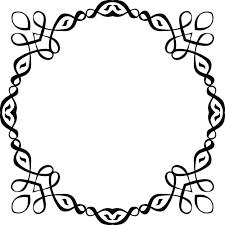clipart of a black and white round invitation border