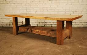 Oak Slab Table by Coffee Tables And Benches U2014 Urbantree