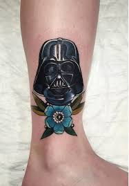picture of darth vader leg tattoo for a
