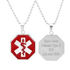 Pendant Engraving Stainless Medical Id Tags
