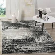 Modern Abstract Rugs Safavieh Adirondack Modern Abstract Silver Black Rug 9 U0027 X 12
