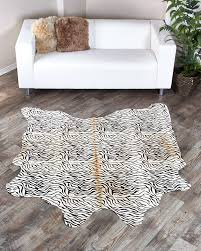 Are Cowhide Rugs Durable Zebra Cowhide Rugs Fursource Com
