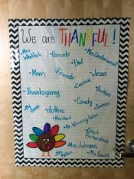 thankful writing classroom ideas november