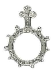 rosary ring crucifix metal rosary ring theactsstore