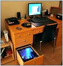 Desk With Computer Built In Desktop Computer Desk Built In Computer Desk Custom Computer Desk