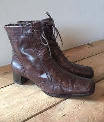 ankle boots uk ebay uk size 5 womens tamaris brown leather brogue ankle boots lace up