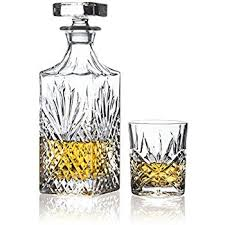 Crystal Comfort Liqueur Amazon Com Brilliant Ashford Lead Free Crystal 5 Piece Whisky