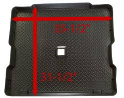 jeep wrangler cargo dimensions dimensions of the jeep wrangler rear cargo huskly liners mat