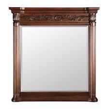 Wooden Bathroom Mirrors Brown Wood Bathroom Mirrors Bath The Home Depot