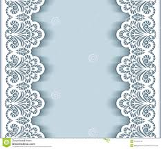 paper lace border background stock vector image 57440445