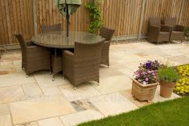 Indian Sandstone Patio by Mint Fossil Indian Sandstone Paving Infinite Paving