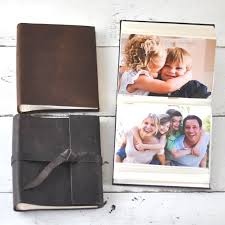 photo album book 4x6 leather brag book 4x6 personalized leather mini album by