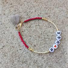 bracelet name beads images Seed bead bracelet personal tassel bracelet femme letter alphabet jpg