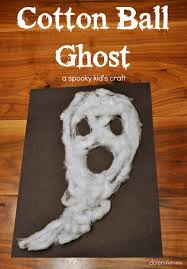 cotton ball ghost halloween kid u0027s craft inspiration made simple