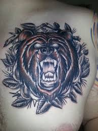 tattooing in the new year with my neo traditional bear for my dad