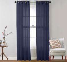 Navy Blue Curtains Supreme Sheer Curtains Navy Blue Sheer Curtains Blue Sheer