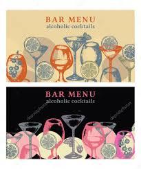 alcohol drinks vector banner bar menu vintage template u2014 stock