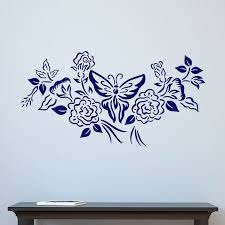 floral and butterfly design wall sticker world of wall stickers the product is already in the wishlist browse wishlist floral and butterfly design wall sticker