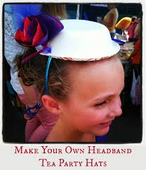 tea party hats easy to make tea party hats kids craft a sparkle of genius