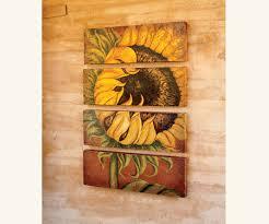 sunflowers decorations home sunflower wall art tuscan sunflower original art wall décor