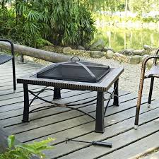 Slate Firepit Crosley Firestone Square Slate Firepit In Black Co9006a Bk