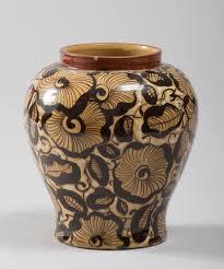 vase in ceramic by dario ravano casale monferrato 1876 1961