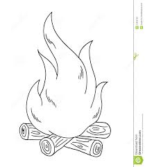 monochrome clipart fire pencil and in color monochrome clipart fire