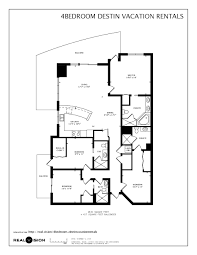 panorama towers floor plans 4 bedroom destin vacation rental emerald grande