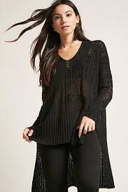 s sweaters cardigans oversized knit fringed forever21