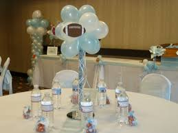 Centerpieces For Baby Shower by Balloon Topiary Baby Shower Centerpiece Sports Themed Cc Events
