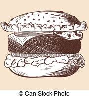 eps vector of grilled cheese sketch doodle style gooey grilled